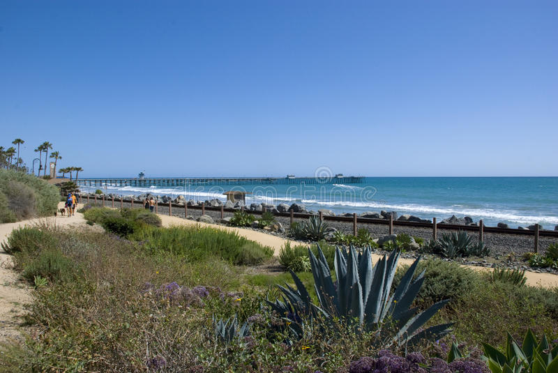 Côte Pacifique à San Clemente, Comté d'Orange - la Californie photographie stock libre de droits