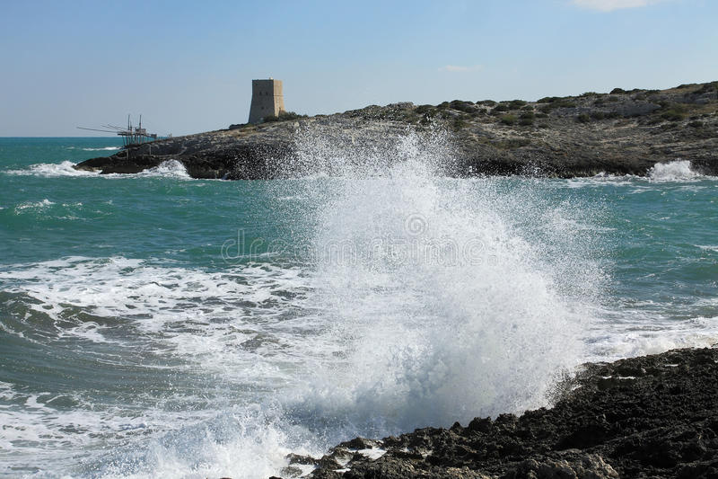 Côte près de Vieste, Gargano photos stock