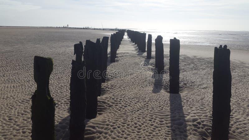 Côte Wather et sable photos stock