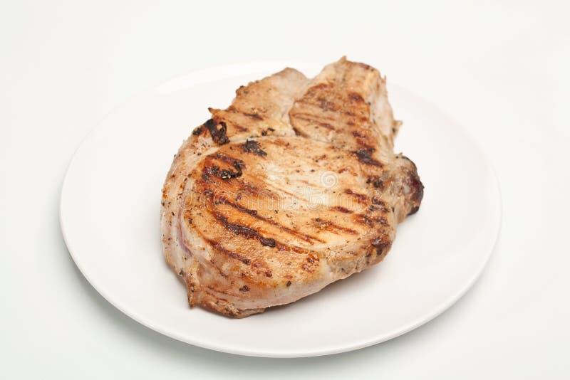 Côtelette de porc grillée photos libres de droits