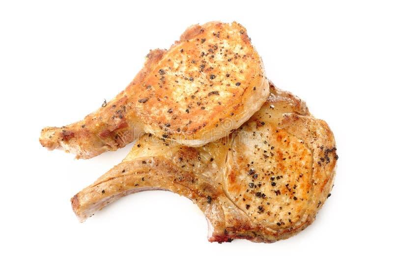 Côtelette de porc grillée images stock