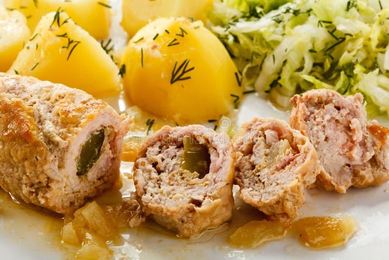 Côtelette et légumes de porc photographie stock libre de droits