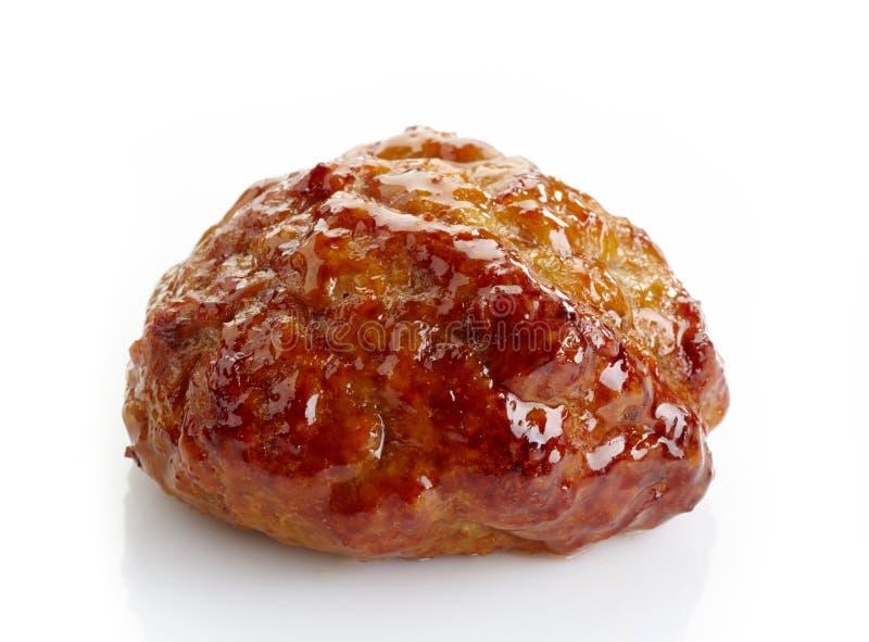 Côtelettes frites juteuses de viande images libres de droits