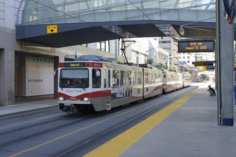 C-trem em Calgary imagem de stock