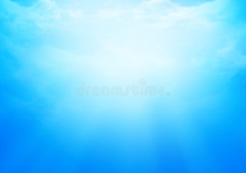 C?u azul nebuloso para o fundo ilustração do vetor