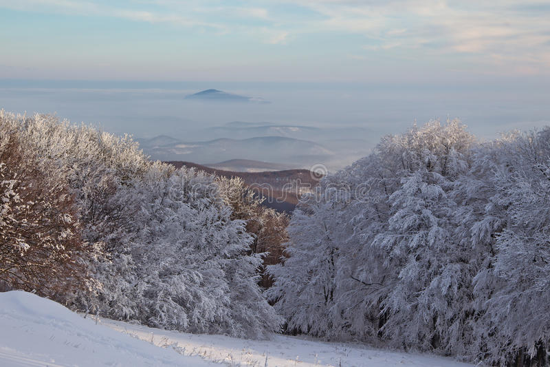 33c ural χειμώνας θερμοκρασίας της Ρωσίας τοπίων Ιανουαρίου στοκ φωτογραφίες