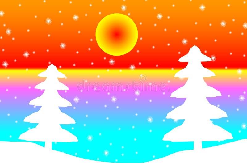 33c ural χειμώνας θερμοκρασίας της Ρωσίας τοπίων Ιανουαρίου απεικόνιση αποθεμάτων