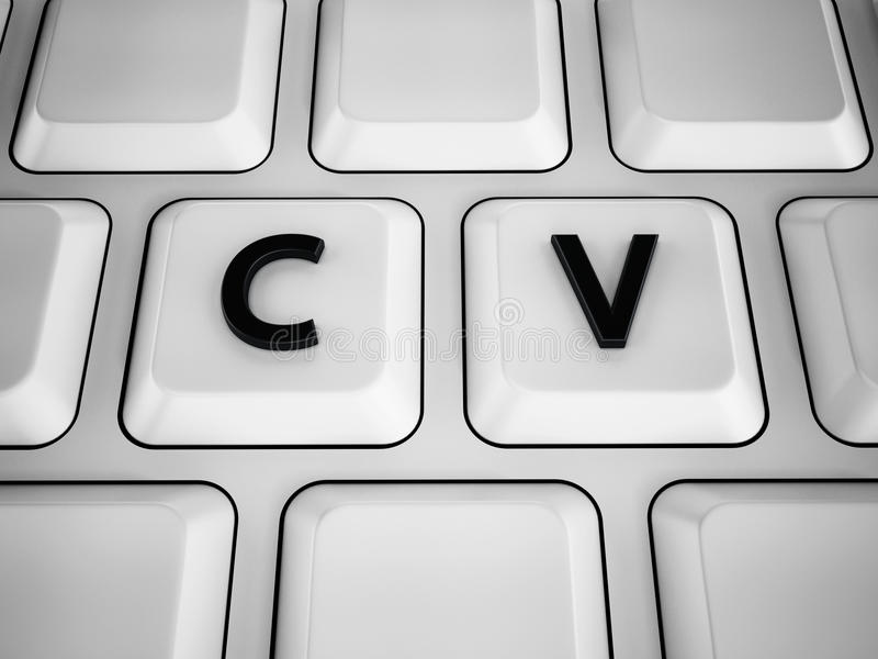 C And V Letters Keyboard Keys Stock Illustration Image