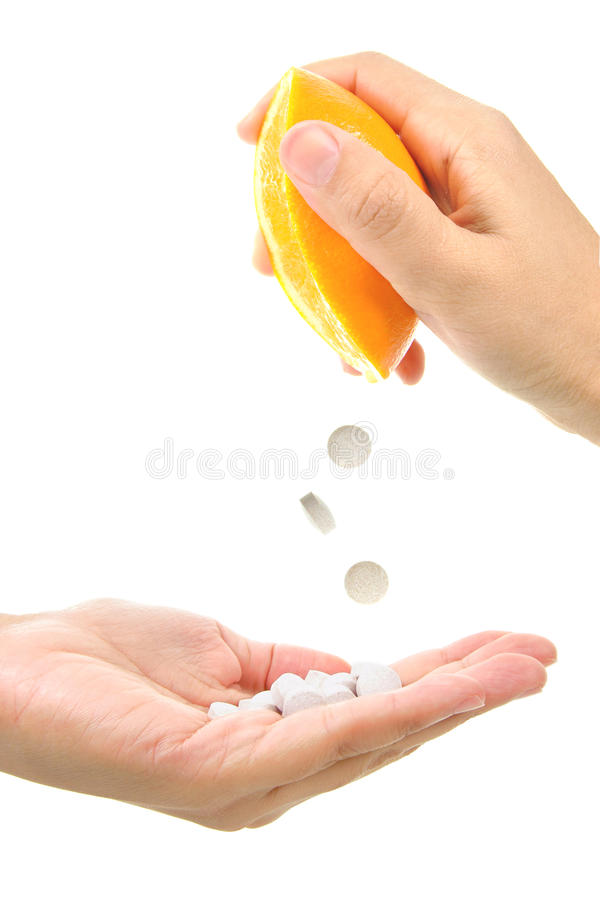 c-vitamin arkivfoton