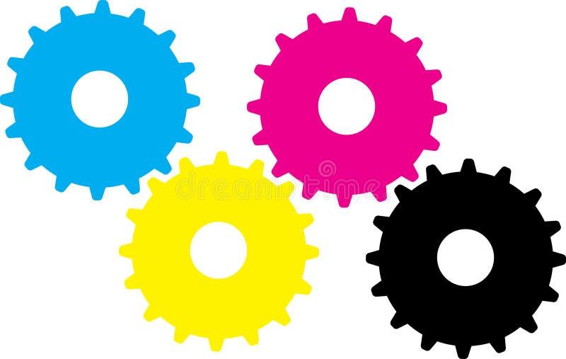 C y m k toestellen vector illustratie
