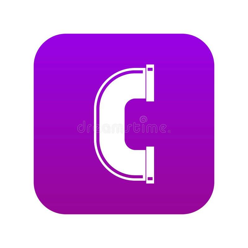 C złącza drymby ikony cyfrowe purpury ilustracji