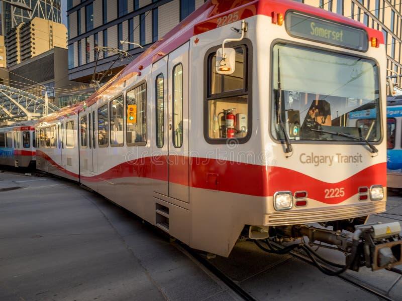 C-Zug in Calgary stockfotos