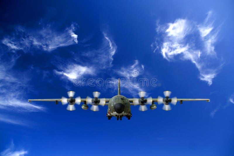 C130 Military airplane royalty free stock photo