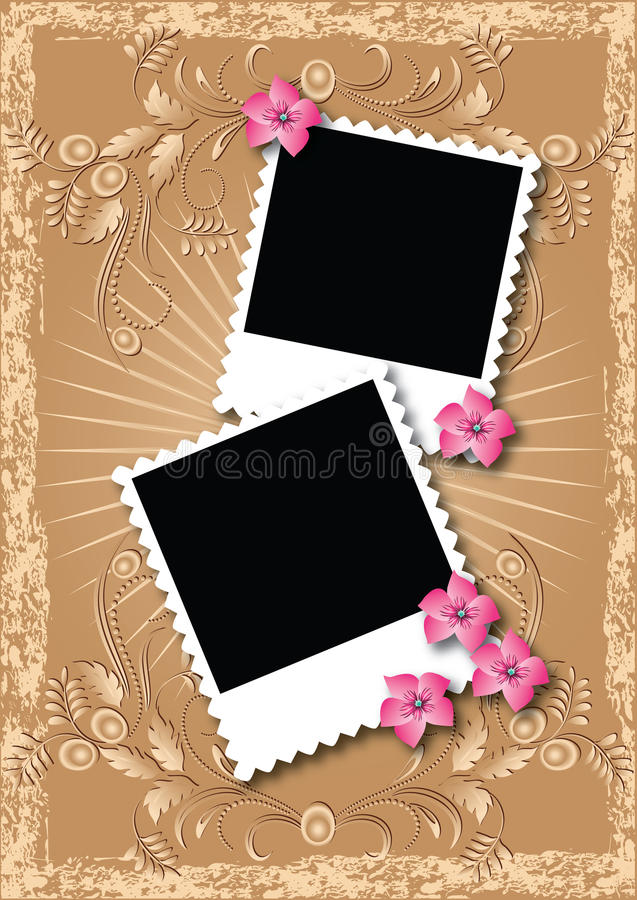 C4seitenformat-Fotoalbum lizenzfreie abbildung