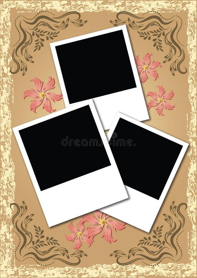 C4seitenformat-Fotoalbum stock abbildung
