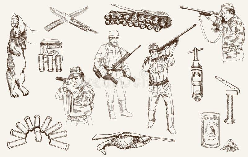 Caça ilustração royalty free