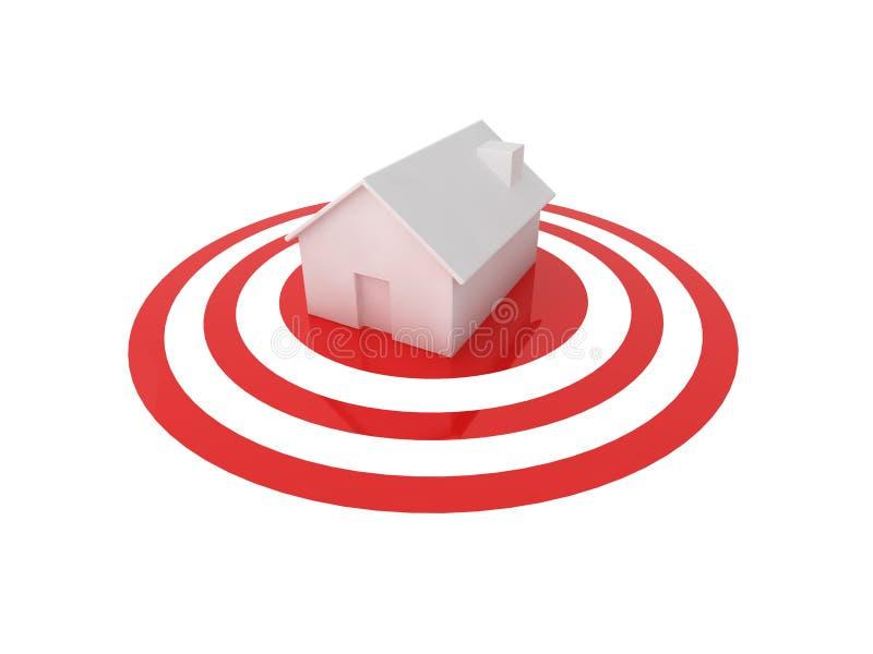 Caça de casa ilustração stock