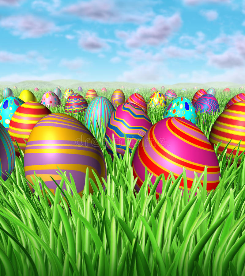 Caça do ovo de Easter ilustração royalty free