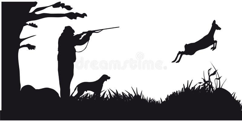Caça a motor dos animais e do landscapes12 ilustração royalty free