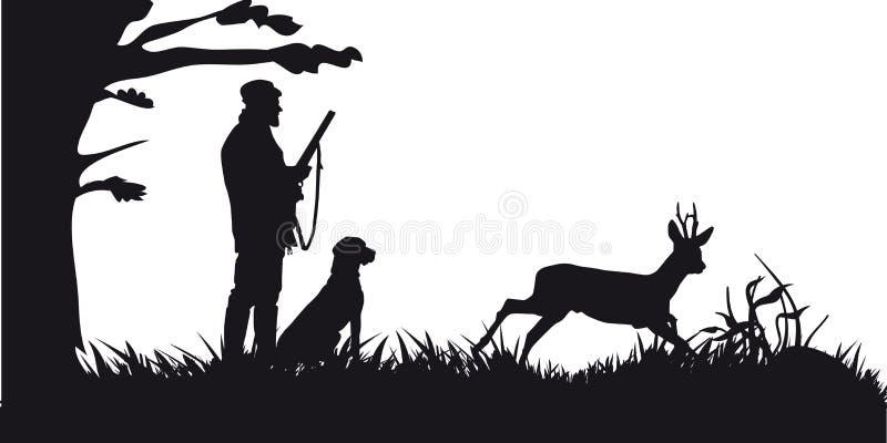 Caça a motor dos animais e do landscapes17 ilustração do vetor