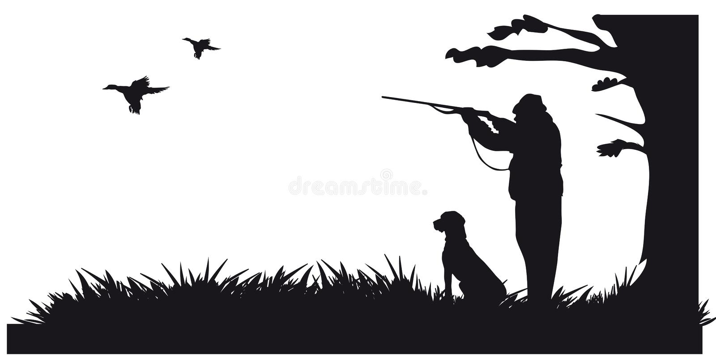 Caça a motor dos animais e do landscapes2 ilustração royalty free