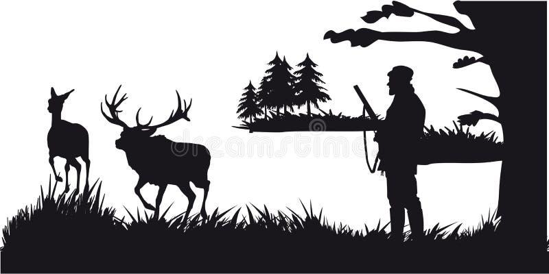 Caça a motor dos animais e do landscapes20 ilustração stock
