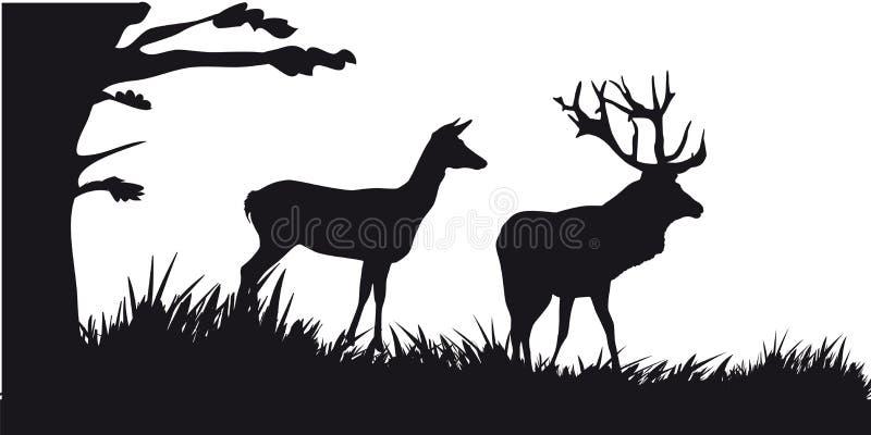 Caça a motor dos animais e do landscapes21 ilustração royalty free