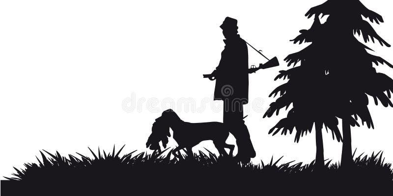 Caça a motor dos animais e do landscapes5 ilustração royalty free