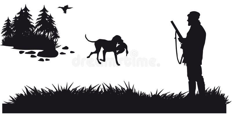 Caça a motor dos animais e do landscapes8 ilustração do vetor