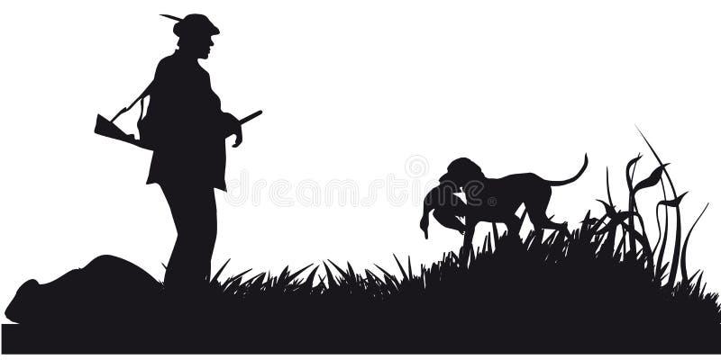 Caça a motor dos animais e do landscapes9 ilustração do vetor