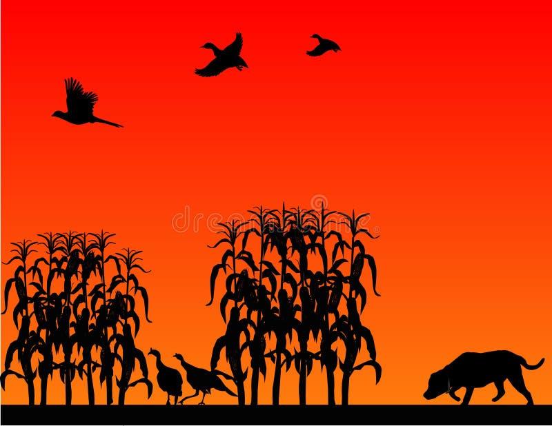 Caça selvagem do pássaro. ilustração stock