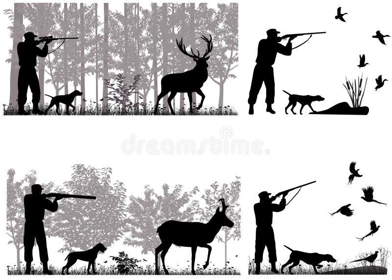 caçador ilustração stock