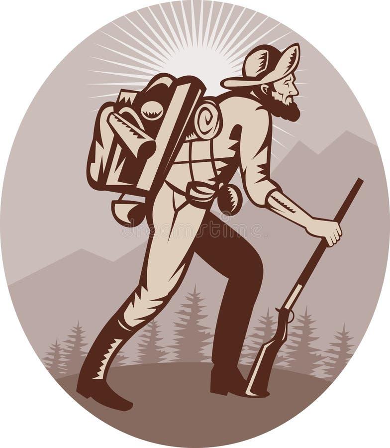 Caçador do caçador do prospector do mineiro ilustração royalty free