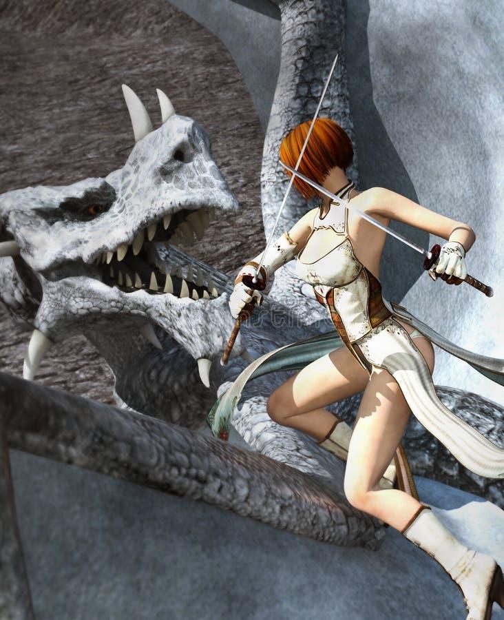 Caçador do dragão ilustração stock