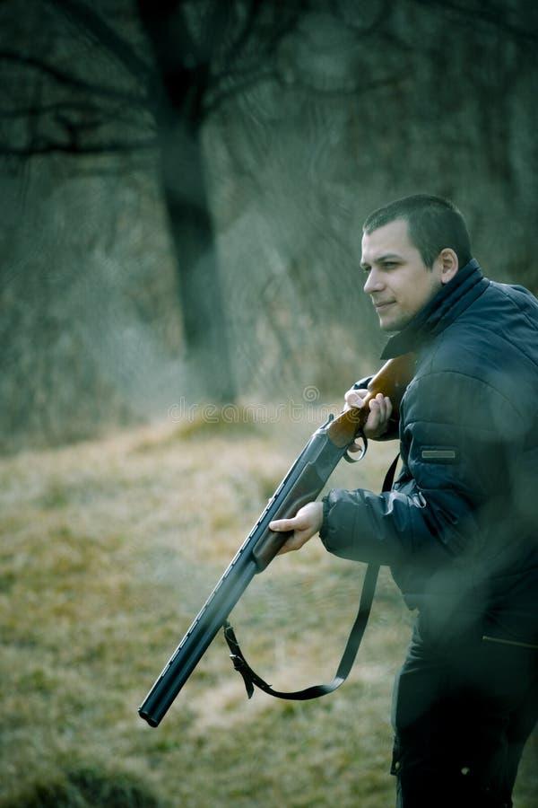 Caçador do rifle imagens de stock