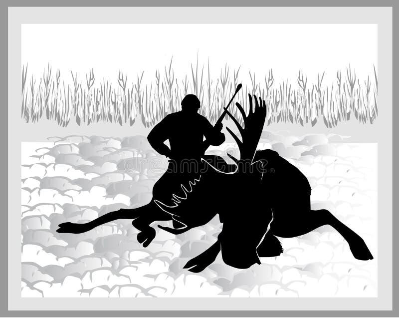 Caçador dos alces ilustração stock