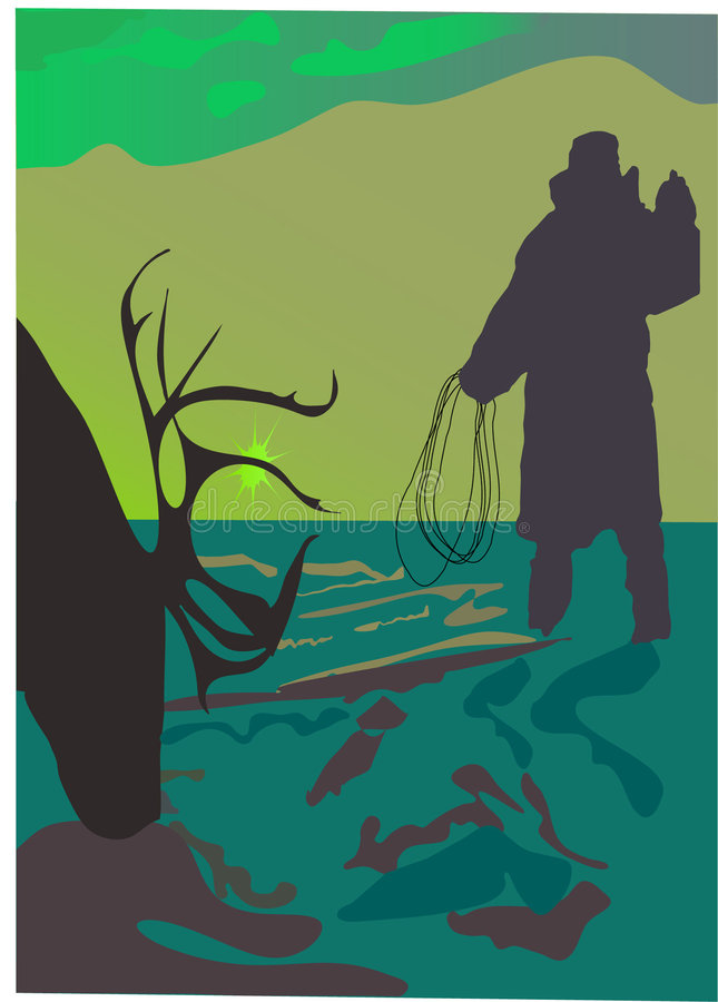 Caçador dos cervos ilustração do vetor
