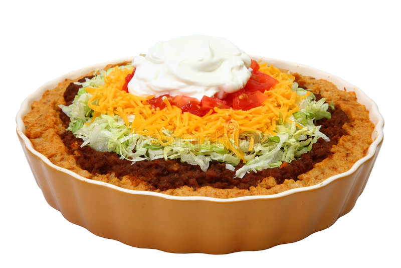 Caçarola de Potatoe do Taco fotografia de stock royalty free