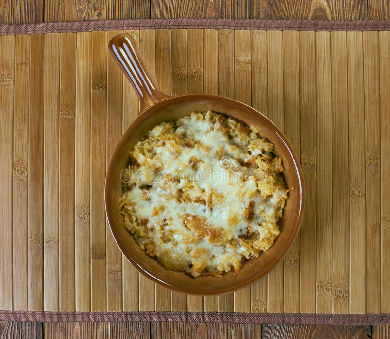 Caçarola do arroz selvagem de Turquia fotos de stock