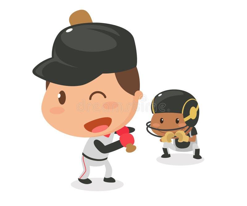 Caçoa a atividade baseball ilustração stock