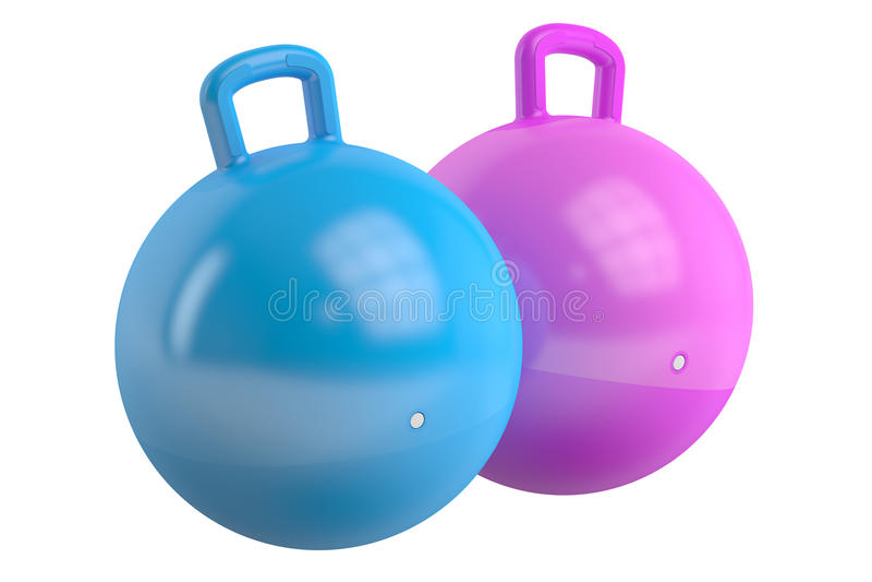 Caçoa bolas de salto, rendição 3D ilustração do vetor