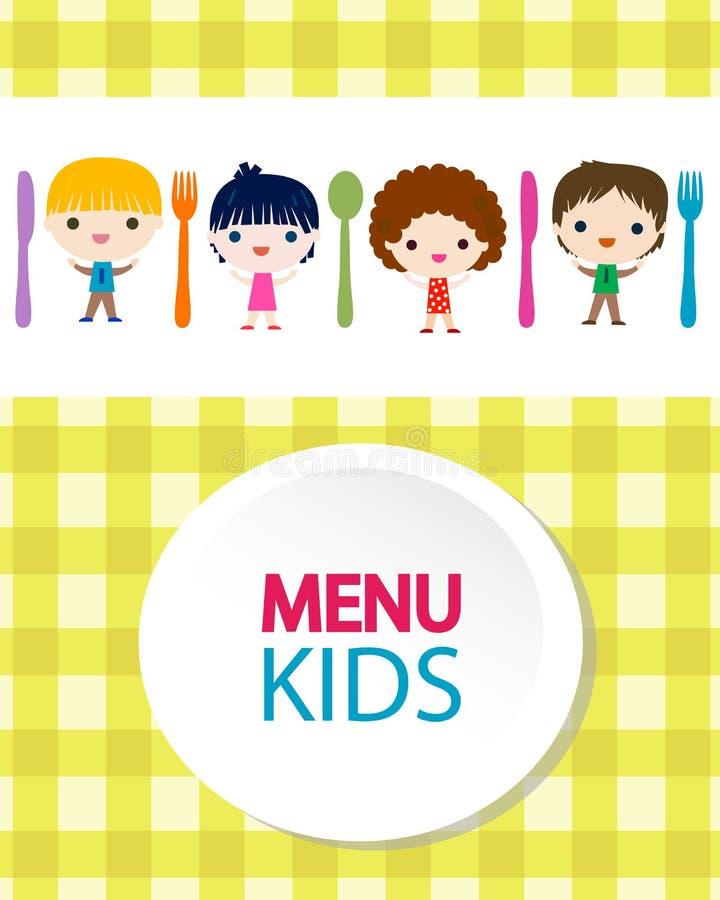 Caçoa o fundo do menu ilustração royalty free