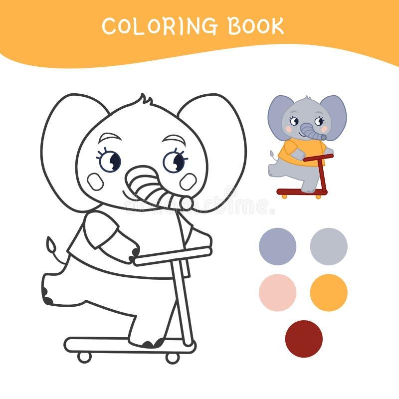 Caçoa o livro para colorir ilustração stock