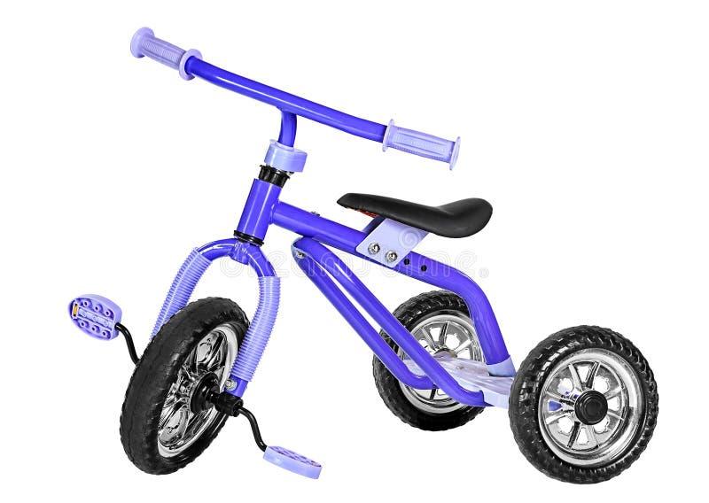 Caçoa o triciclo azul fotografia de stock