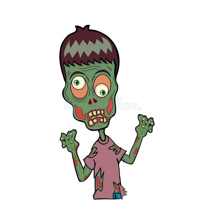 Caçoa o zombi imagens de stock