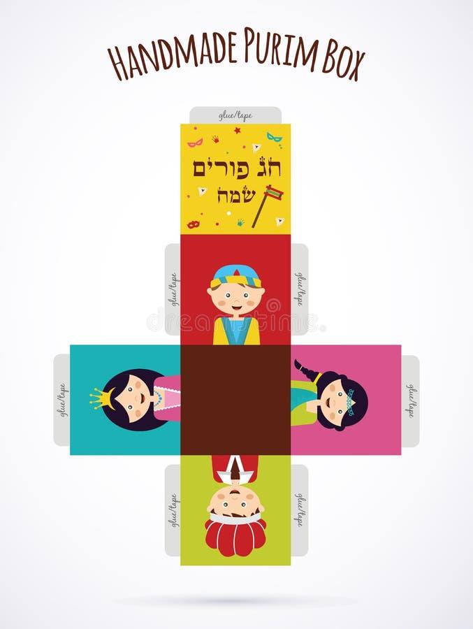 Caçoa trajes vestindo da história de Purim molde ilustração do vetor