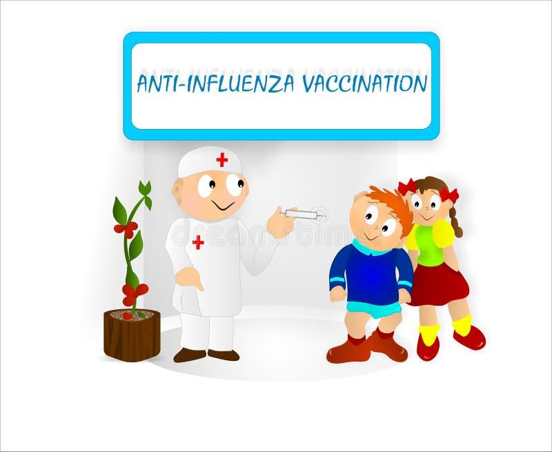 Caçoa a vacinação ilustração do vetor