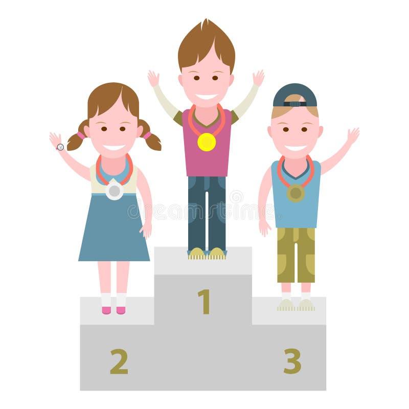Caçoa vencedores ilustração stock