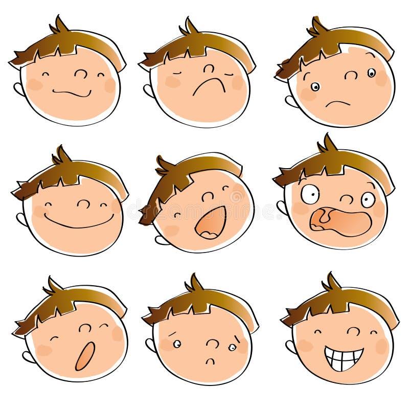 Caçoe expressões ilustração royalty free