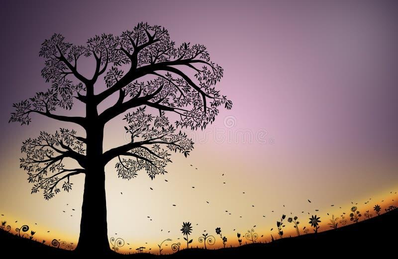 Caída Autumn Background ilustración del vector